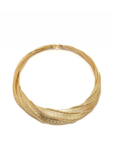 """14K Textured Rolo Link 18"""" Necklace"""