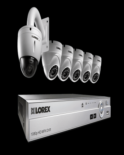 HD CCTV system with 1080p dome cameras