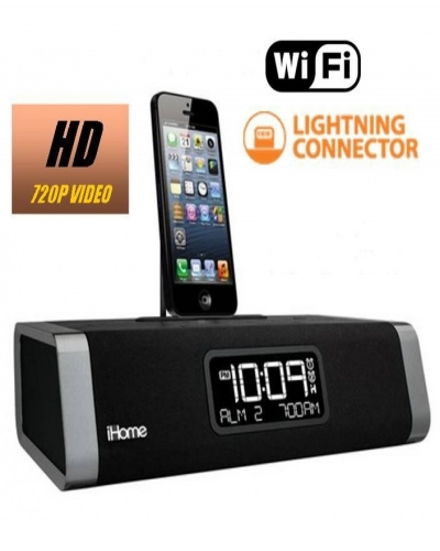 HIDDEN CAMERA CLOCK RADIO