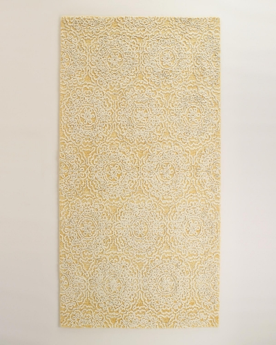 Ivory Floral Tufted Wool Simone Area Rug