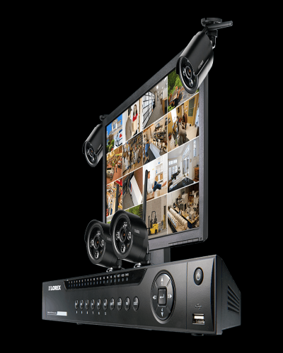 Security system with Wireless night vision cameras