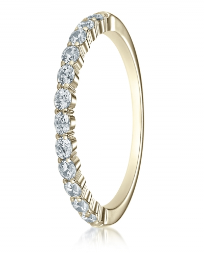 SHARED PRONG 12-STONE DIAMOND RING